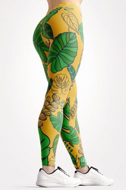 tropical paradise leggings back by utopy