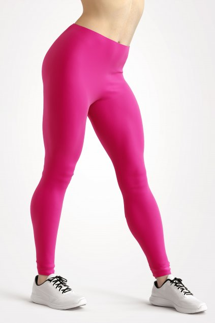 leggings hot pink essentials front side by utopy