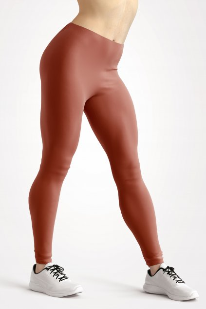 leggings terracotta essentials front side by utopy
