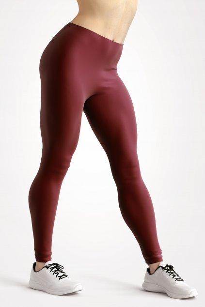 leggings burgundy essentials front side by utopy