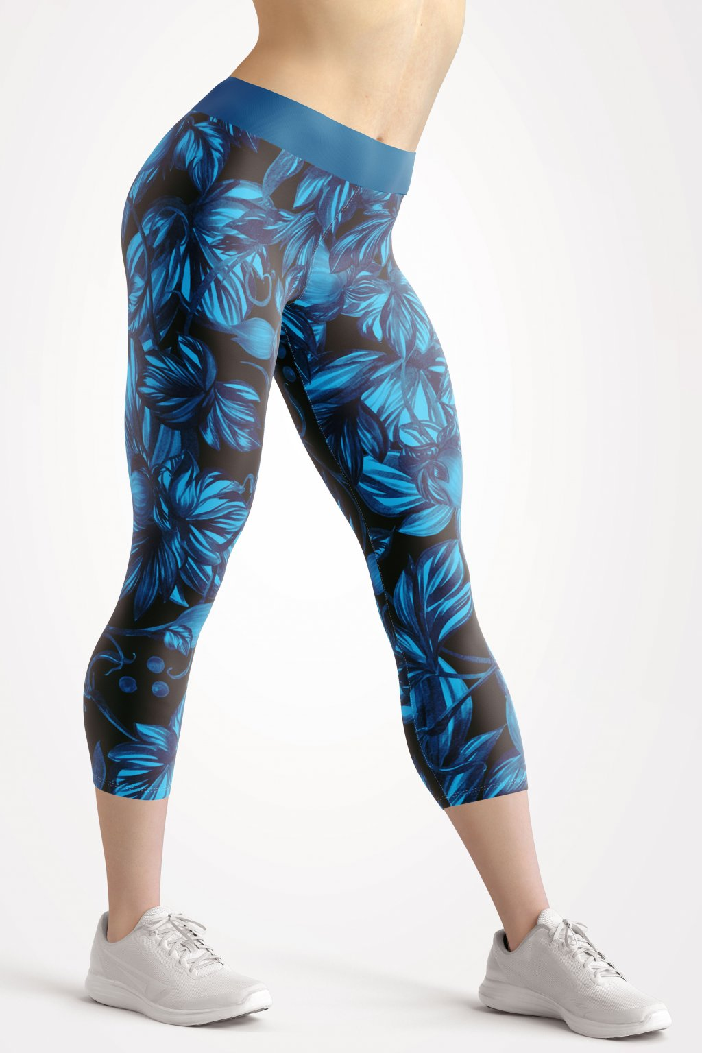 tropical garden 3 4 leggings front by utopy