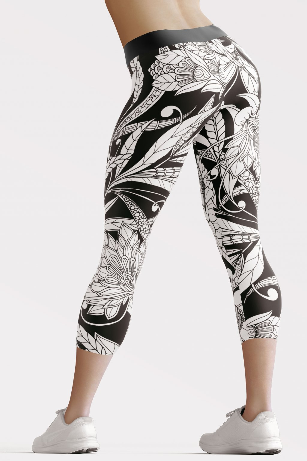 white passion 3 4 leggings back by utopy