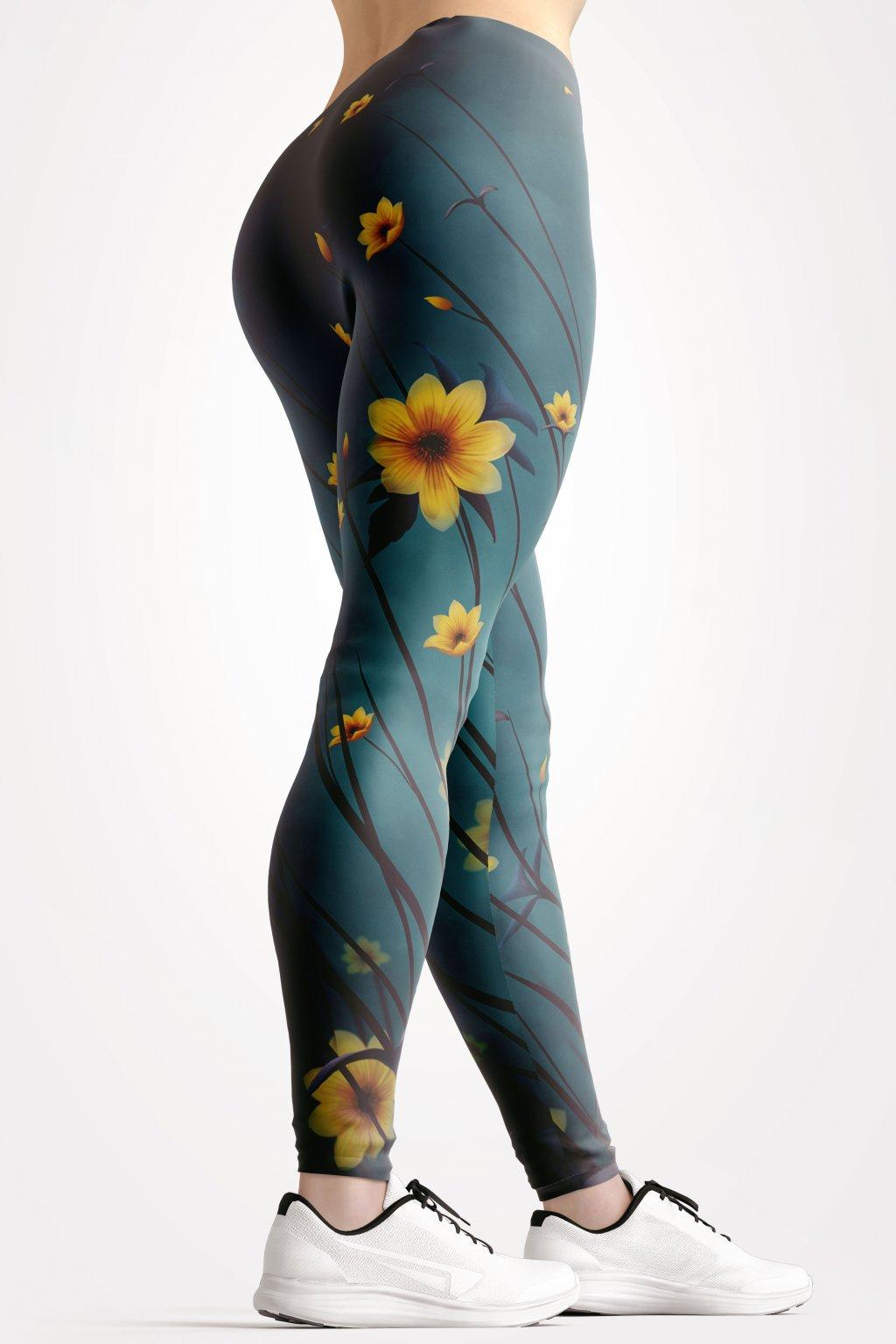 yellow aster leggings back by utopy