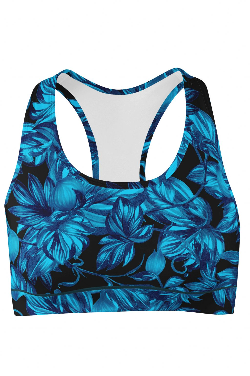 tropical garden sport bra front by utopy