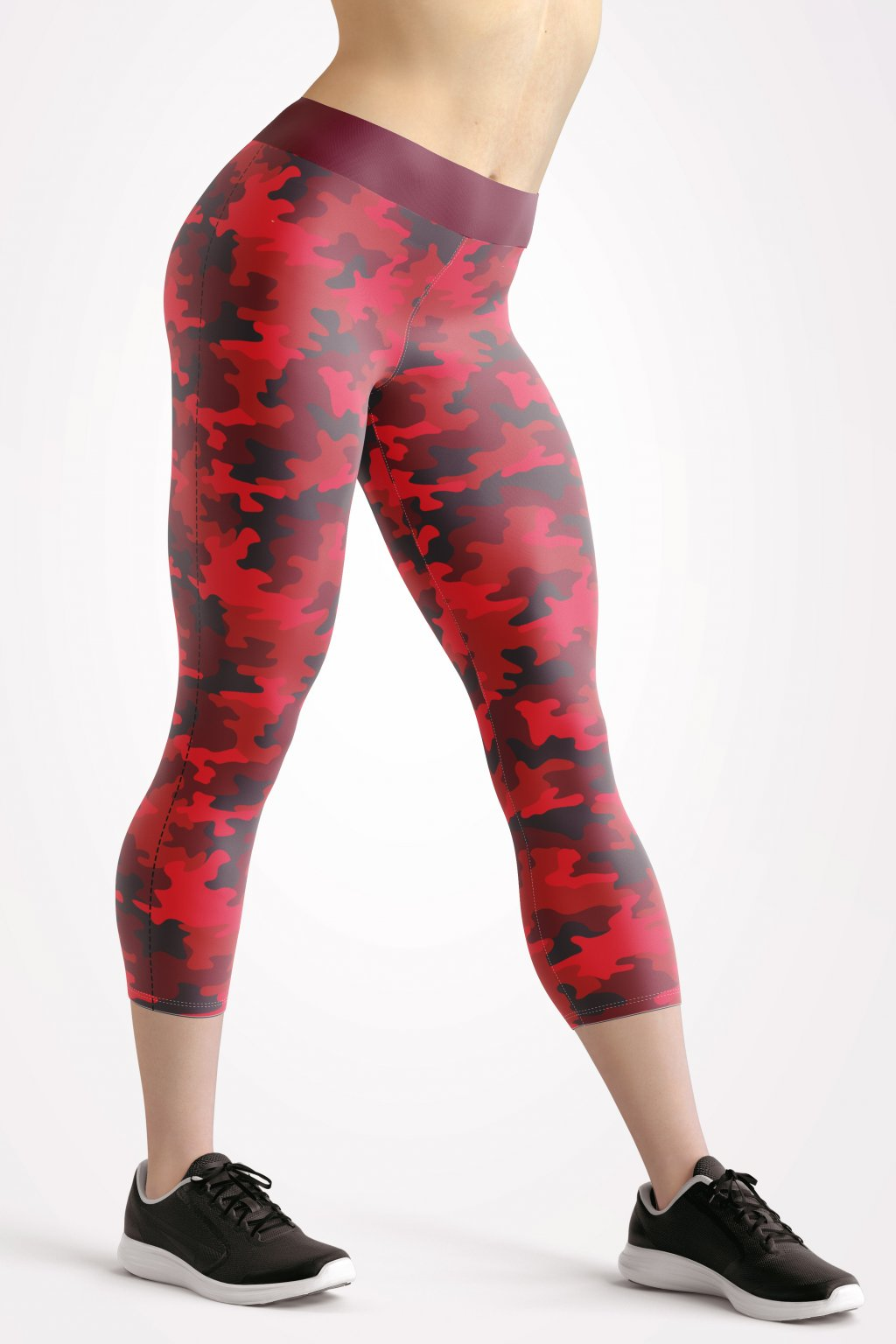 camo red front side 3 4 leggings by utopy