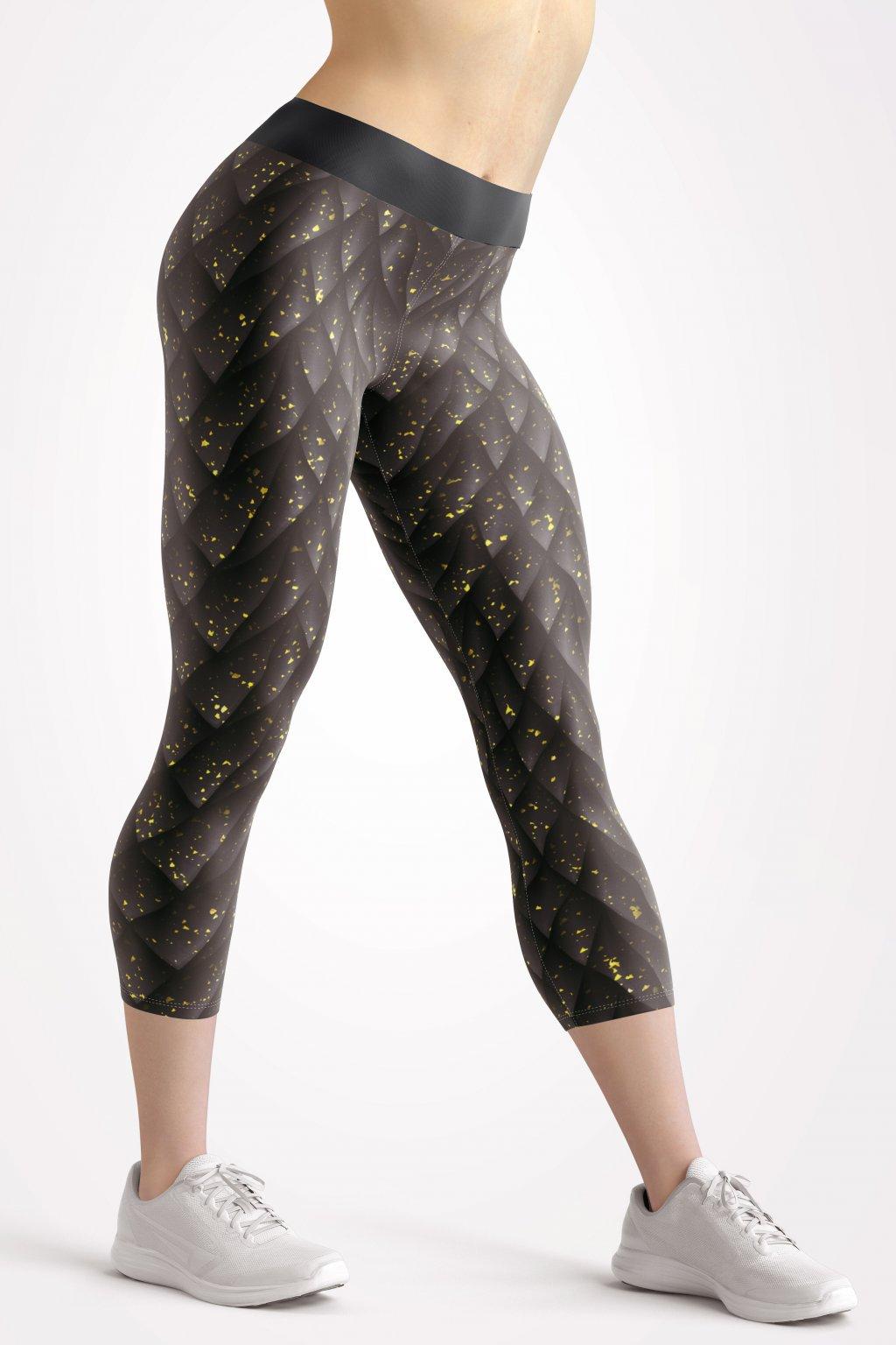 black shard 3 4 leggings front by utopy