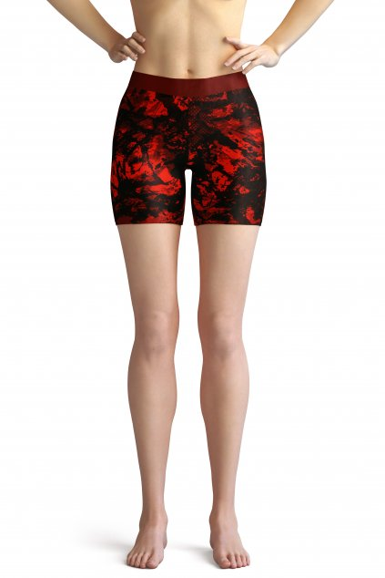red dream shorts front by utopy