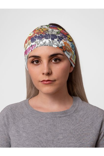 mockup of a woman at a studio with a tubular bandana on her head 36078 (6)
