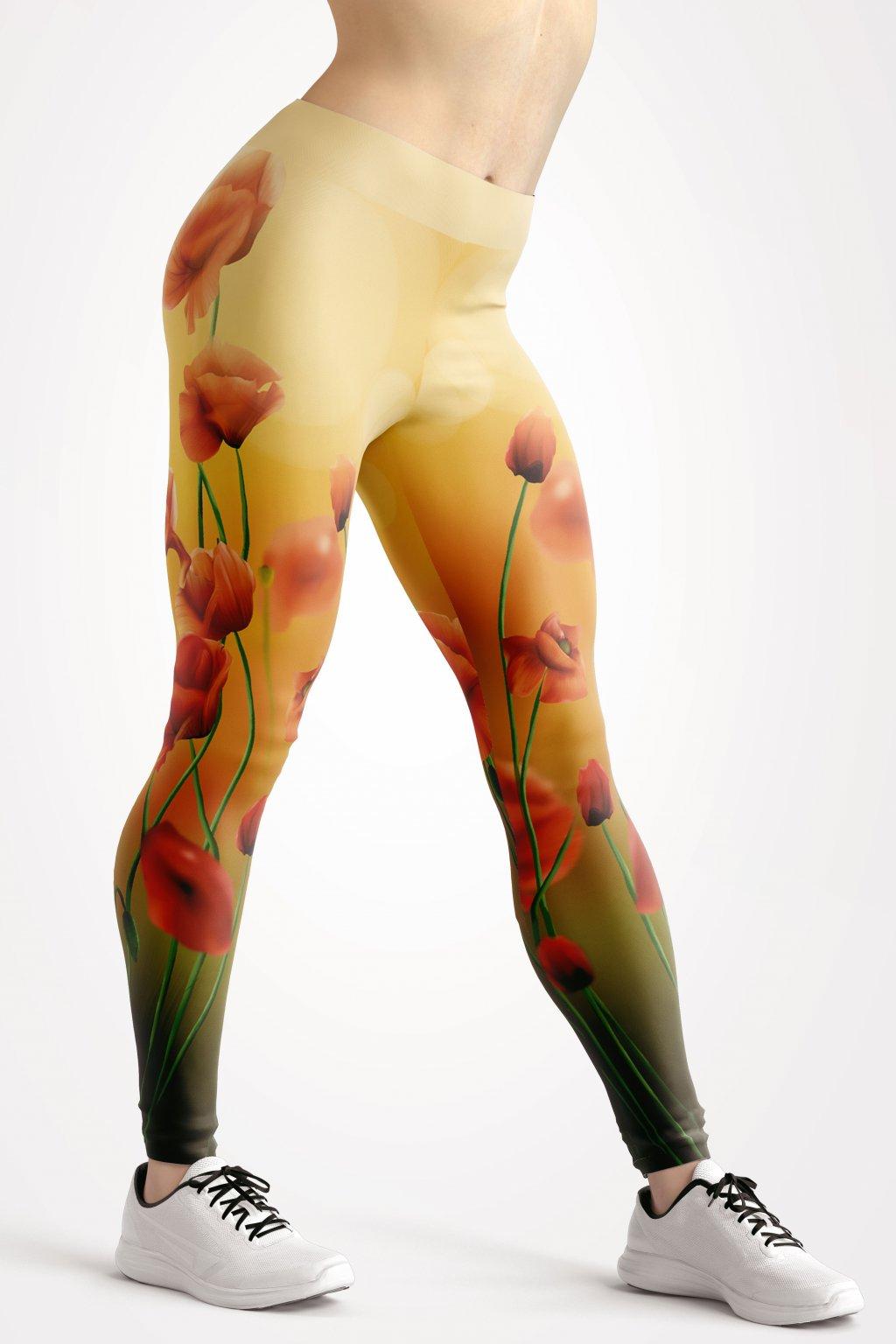 happy poppy leggings front by utopy