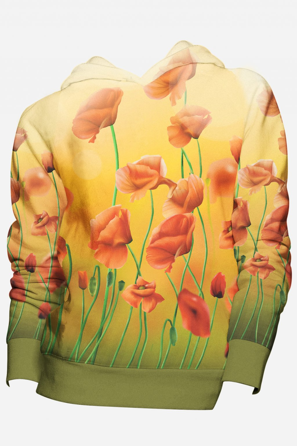 mikina happy poppy front fullprint by utopy