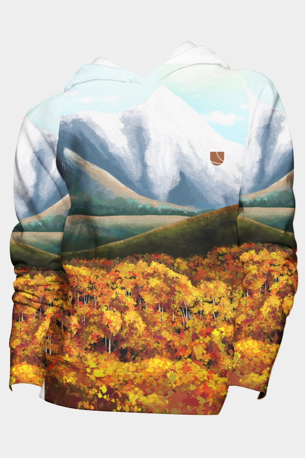 mikina mountain valley fullprint front by utopy