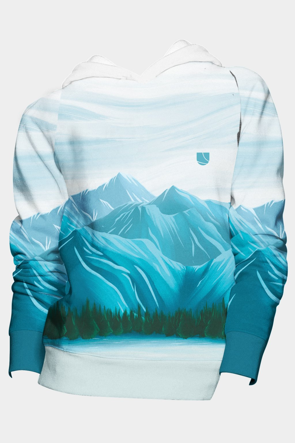 mikina winter mountain fullprint front by utopy