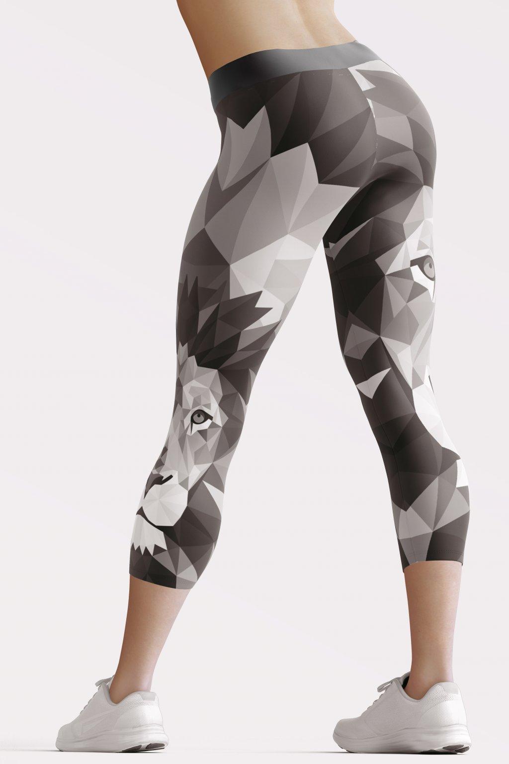 grey lion 3 4 leggings back by utopy
