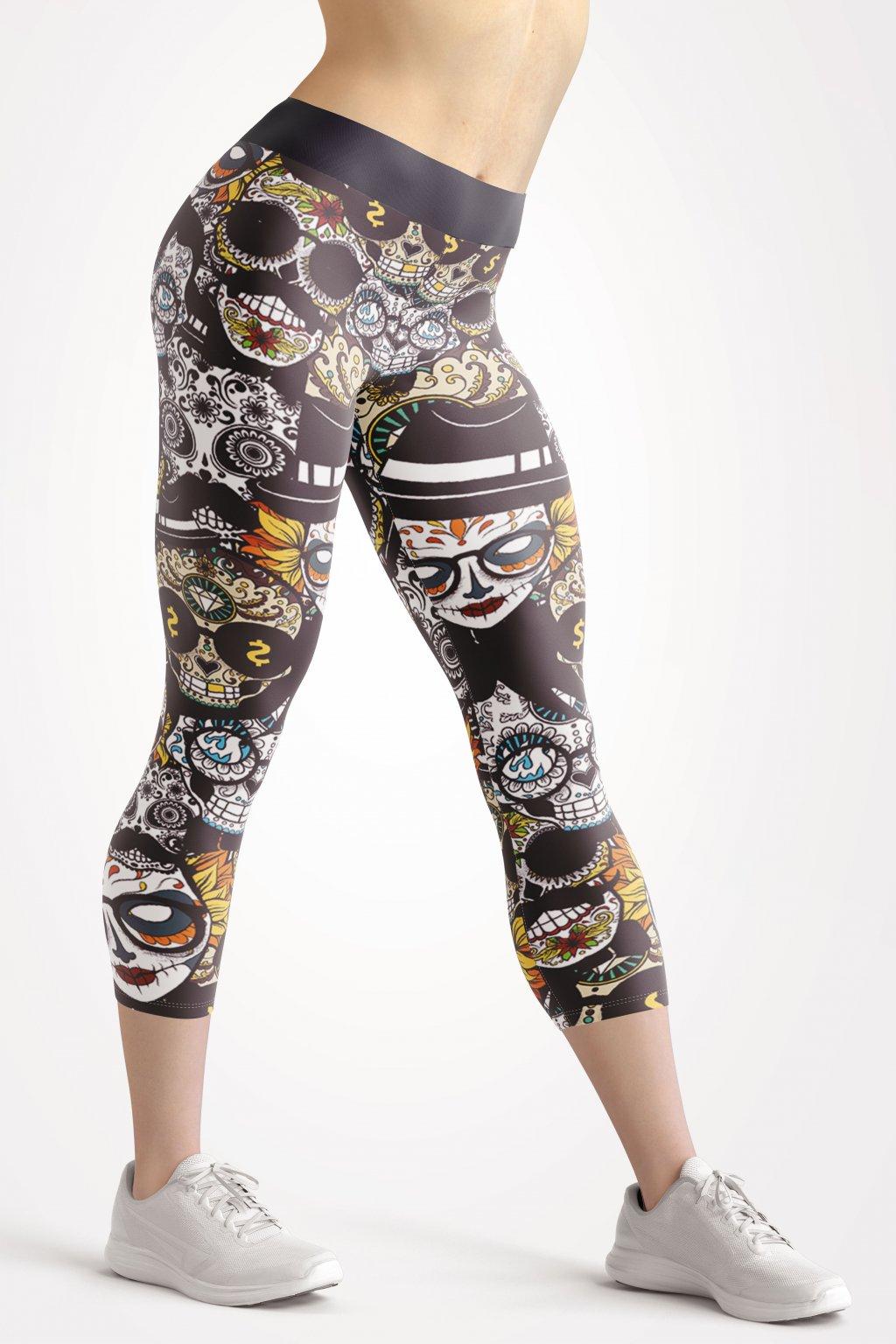 muerte 3 4 leggings front by utopy