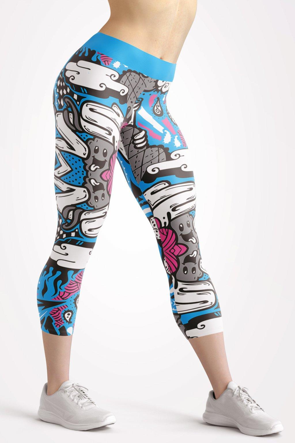 toon hype 3 4 leggings front by utopy