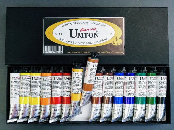 Sada olejových barev UMTON 15 x 20ml