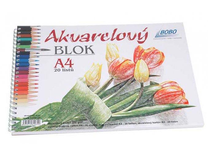 Bobo Akvarelový blok, 250g/m2, 20 listů