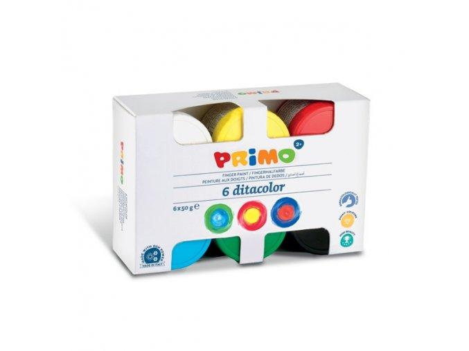 prstove barvy primo sada 6x50g