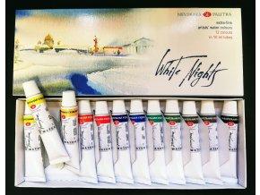 White nights - akvarelové barvy v tubách, sada 12 ks