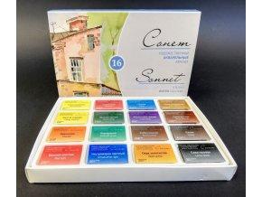 Sonnet - sada 16 akvarelových barev