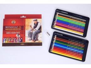 Akvarelové pastelky 24ks
