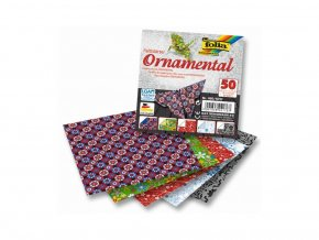 Papíry na skládání ORIGAMI 50 listů,10x10 cm, 80g/m2 ORNAMENTAL