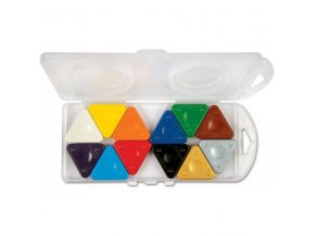 sada trojboke voskovky 12ks v plastove krabiccce