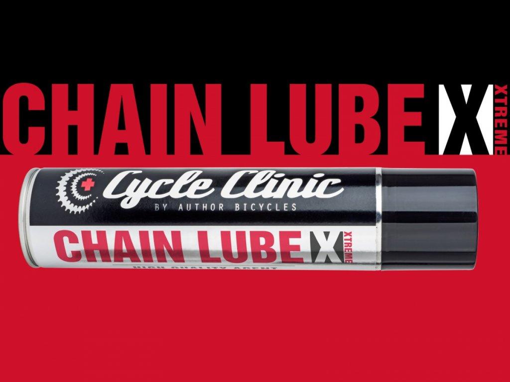 AUTHOR Mazivo Cycle Clinic Chain Lube EXTREME 300 ml  (červená)