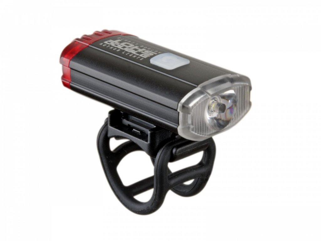AUTHOR Světlo př. & zad. A-DoubleShot 250 / 12 lm USB  (černá)