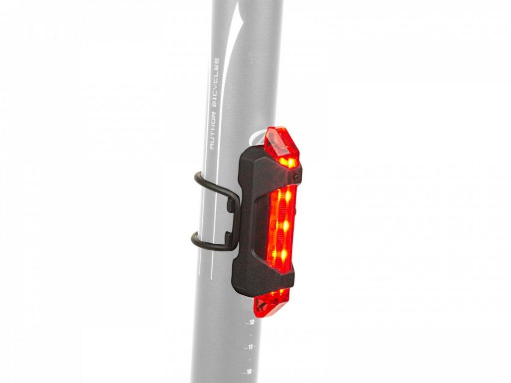AUTHOR Světlo zad. A-Stake Mini USB   (černá/červené-sklo)