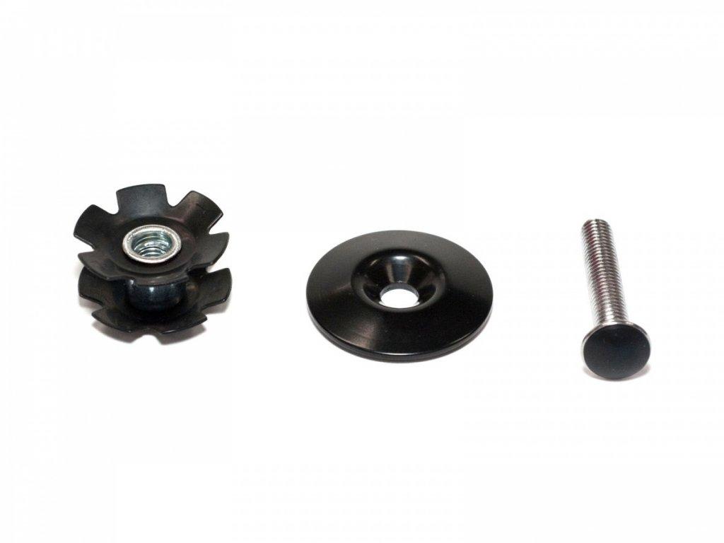 AUTHOR Krytka s hvězdicí ACO-TC1 (5ks v bal) d.25,4mm (černá)