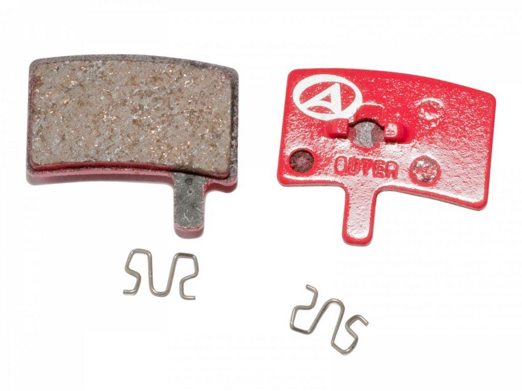 AUTHOR Brzdové destičky ABS-45 Hayes Stroker Trial  (červená)