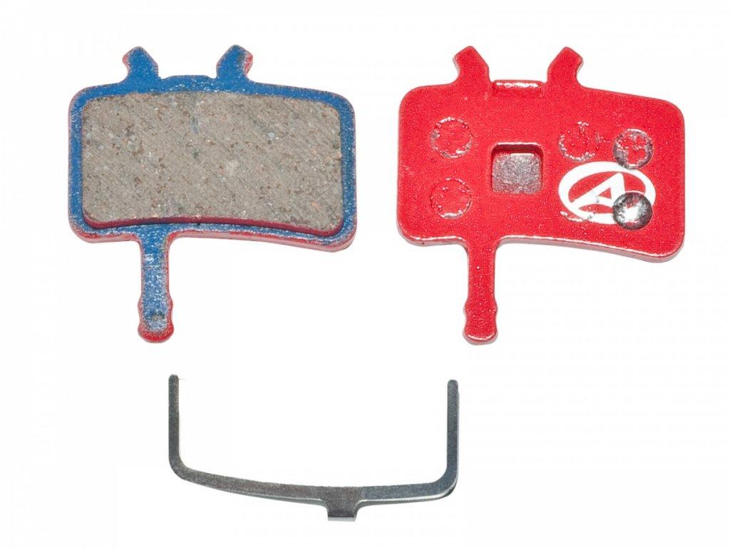 AUTHOR Brzdové destičky ABS-61 Avid Juicy  (červená)