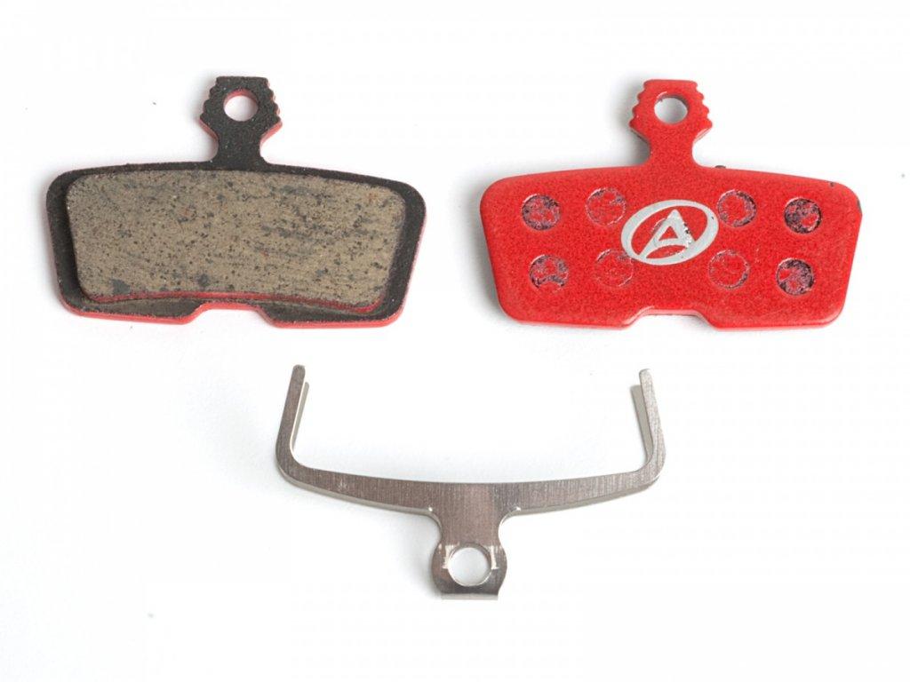 AUTHOR Brzdové destičky ABS-66 Avid Code R  (červená)