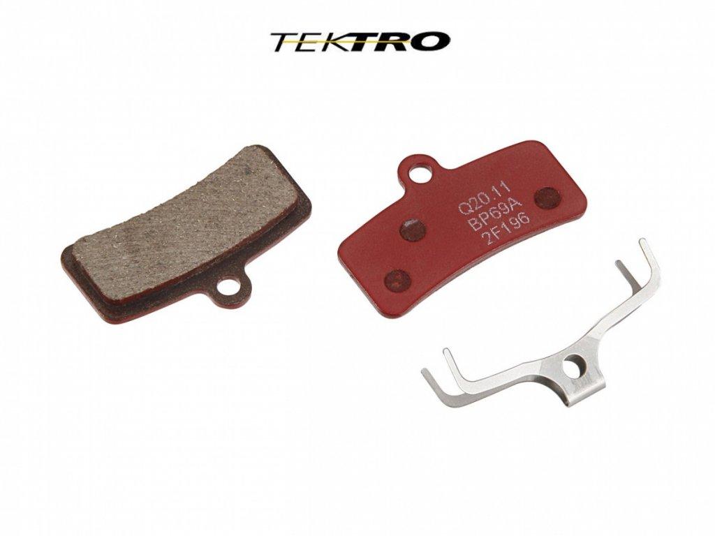 TEKTRO Brzdové destičky TK-Q20.11 - Quadiem (2ks)  (červená)
