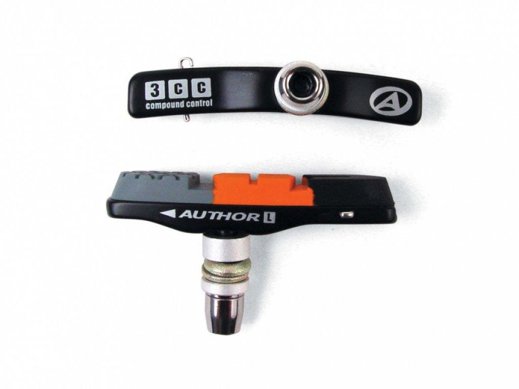 AUTHOR Botky ABS - 3CC - Alu  (černá/oranžová/šedá)