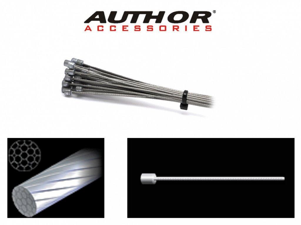 AUTHOR Lanko řadící ABS-Lr-Index 1,2x2000mm (30ks v bal)  (stříbrná)