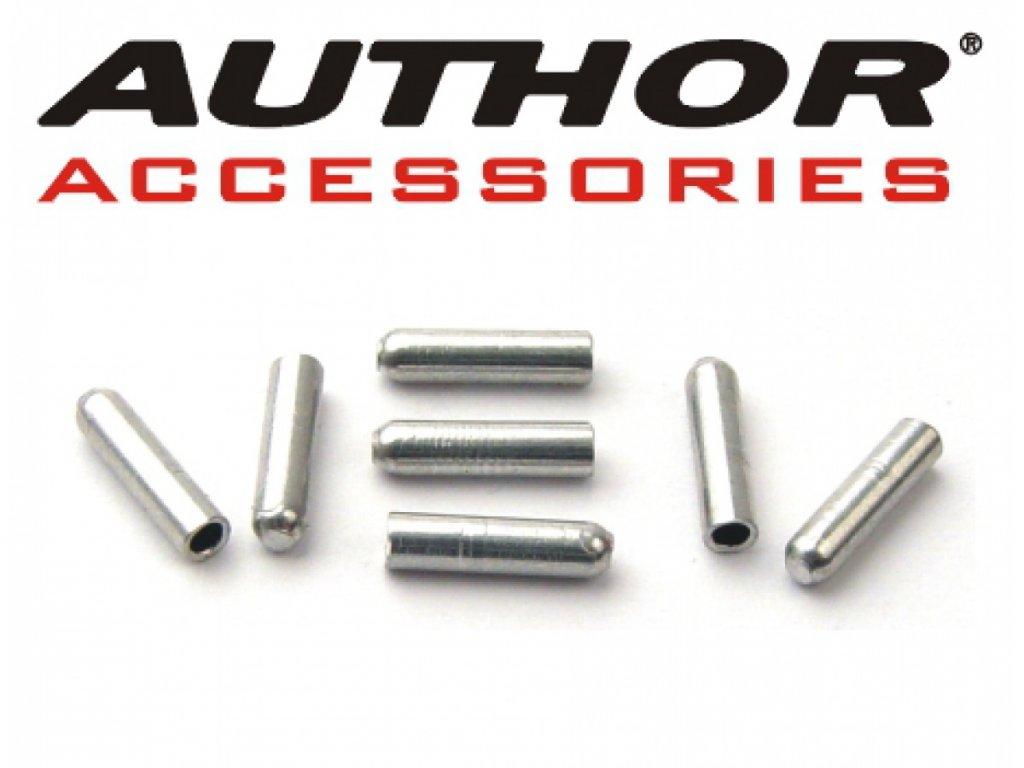 AUTHOR Koncovka lanka ABS-Kl-A 1,2mm (500ks v bal)  (stříbrná)