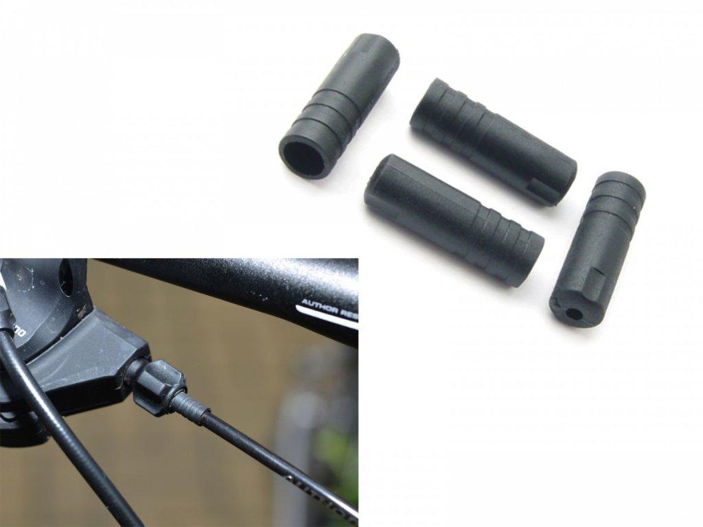 AUTHOR Koncovka bovdenu ABS-Kb-03S 4mm (100ks v bal)  (černá)