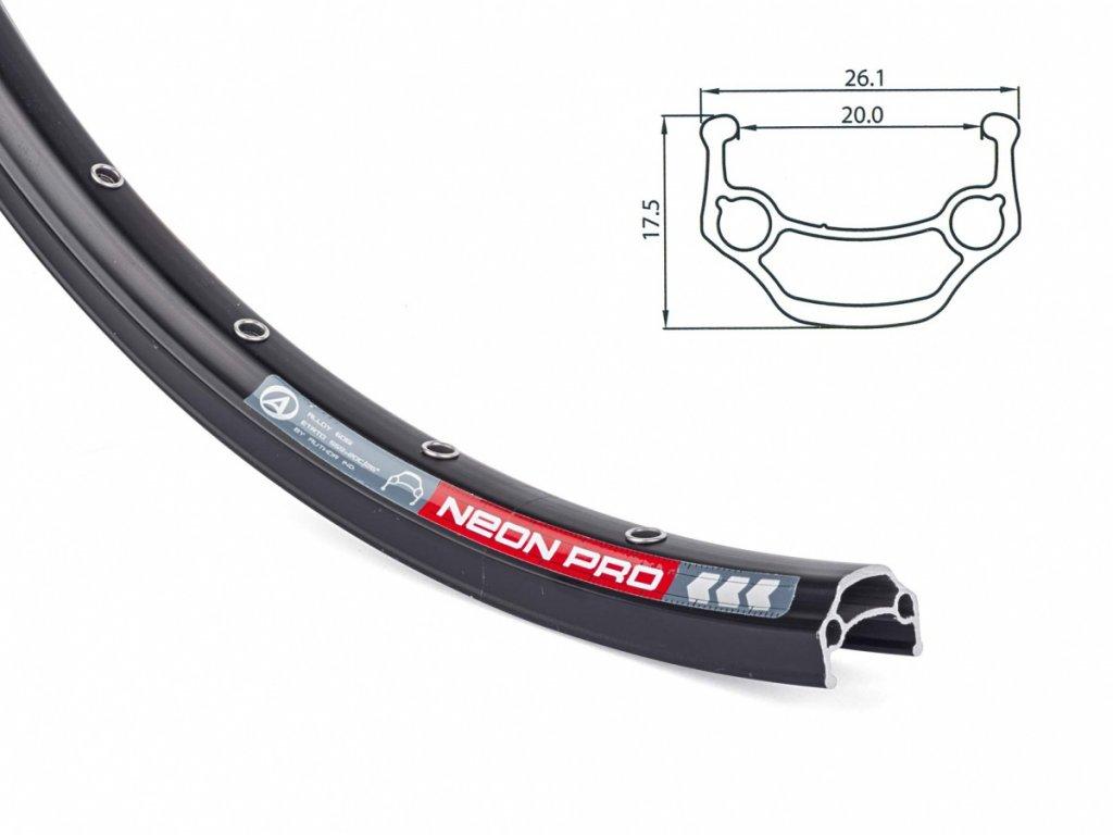 AUTHOR Ráfek ACO Neon Pro 559x20/ 32 disc (černá)