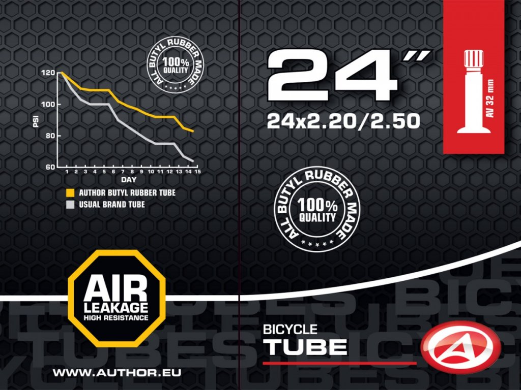 "AUTHOR Duše AT-CMP-24"" Wide AV32 24x2.20/2.50 (černá)"