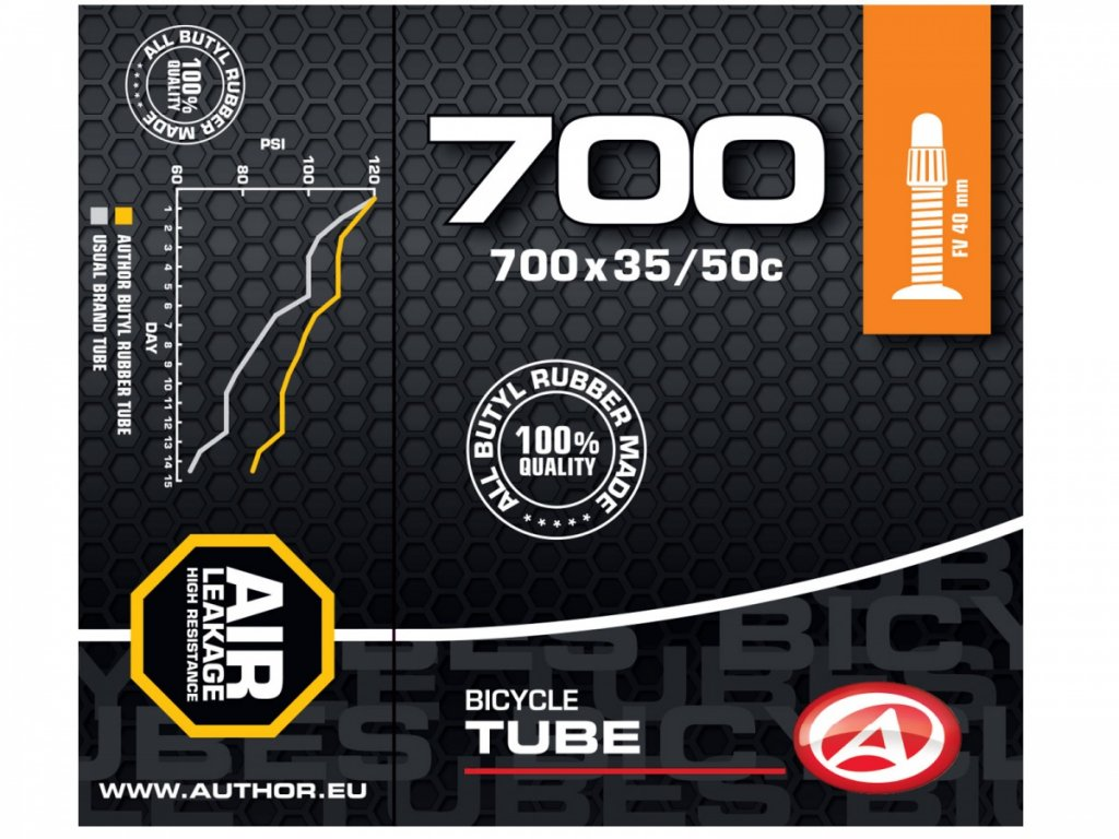 AUTHOR Duše AT-CROSS-700C Wide FV40 700x35/50C (černá)