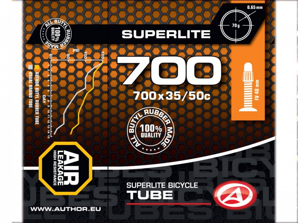 AUTHOR Duše AT-CROSS-700C SuperLite FV40 700x35/50C (černá)