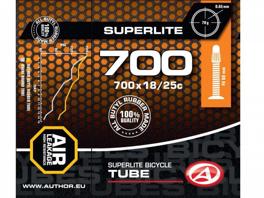 AUTHOR Duše AT-ROAD-700C SuperLite FV60 700x18/25C (černá)