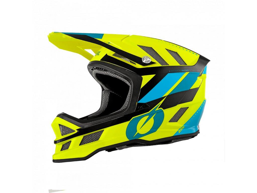 Přilba O´Neal Blade IPX SYNAPSE žlutá/modrá M
