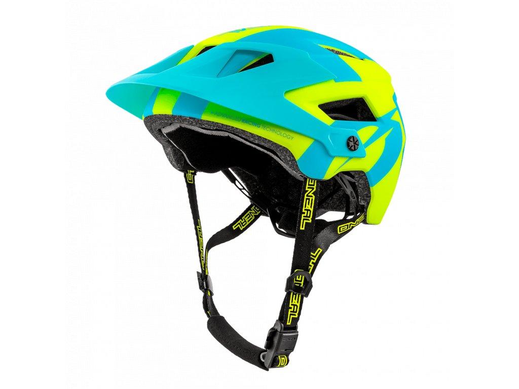 Přilba O´Neal Defender 2.0 SLIVER modrá/žlutá L/XL