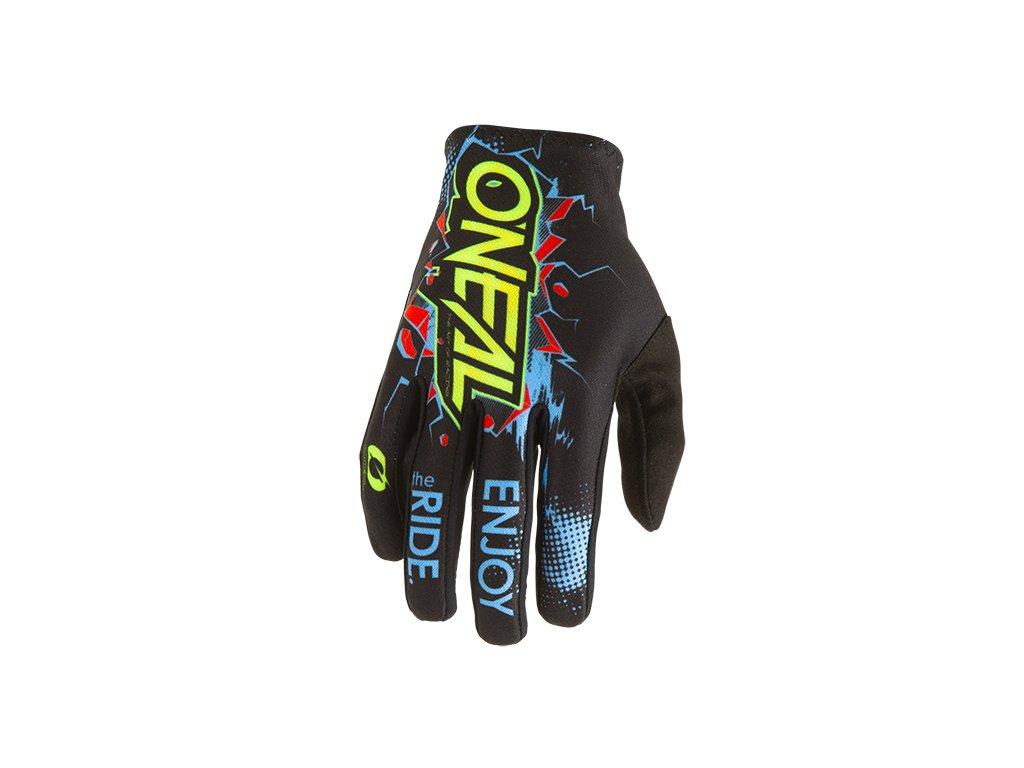 Dětské rukavice O´Neal Matrix VILLAIN černá