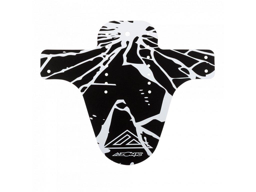 Blatník přední Azonic SPLATTER ENIGMA černá/bílá
