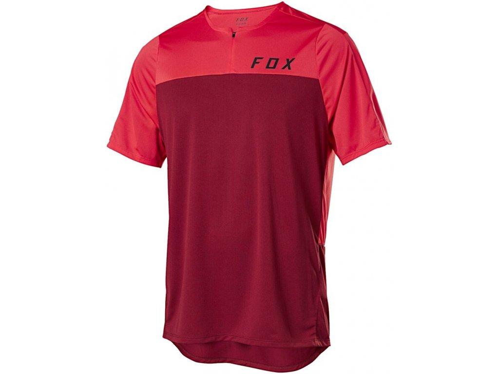 fox flexair zip trudri ss jersey chili red 2020 FO25121555L PAR