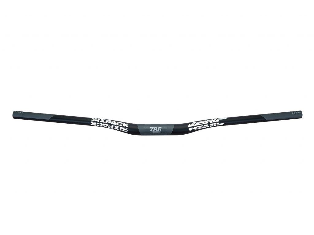 Řídítka SIXPACK Vertic Carbon 20 mm, 35/785 mm černá/chrom